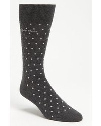 Charcoal Polka Dot Socks