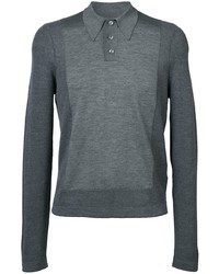 Maison Margiela Long Sleeve Knitted Polo Top