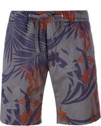 Eleventy Palm Leaf Print Shorts