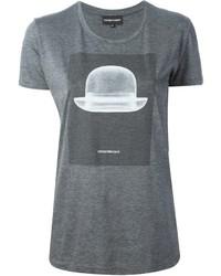 Emporio Armani Bowler Hat Print T Shirt