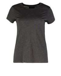 Print t shirt dark grey melange medium 3896580