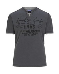 Jan Vanderstorm Nante Print T Shirt Grau