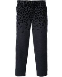 Kolor Animal Print Cropped Tapered Trousers