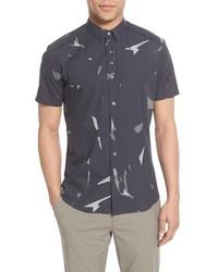 Charcoal Print Short Sleeve Shirt