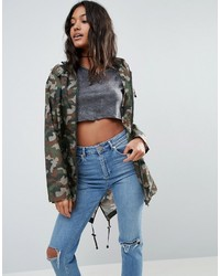 Asos Pac A Trench In Camo Print