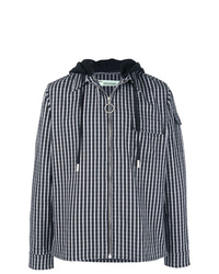 Off-White Check Print Hooded Jacket