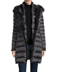 Charcoal Puffer Coat