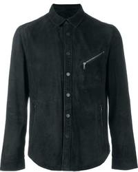 John Varvatos Fitted Zip Detail Button Down Jacket