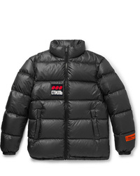 Heron Preston Logo Appliqud Quilted Shell Down Jacket