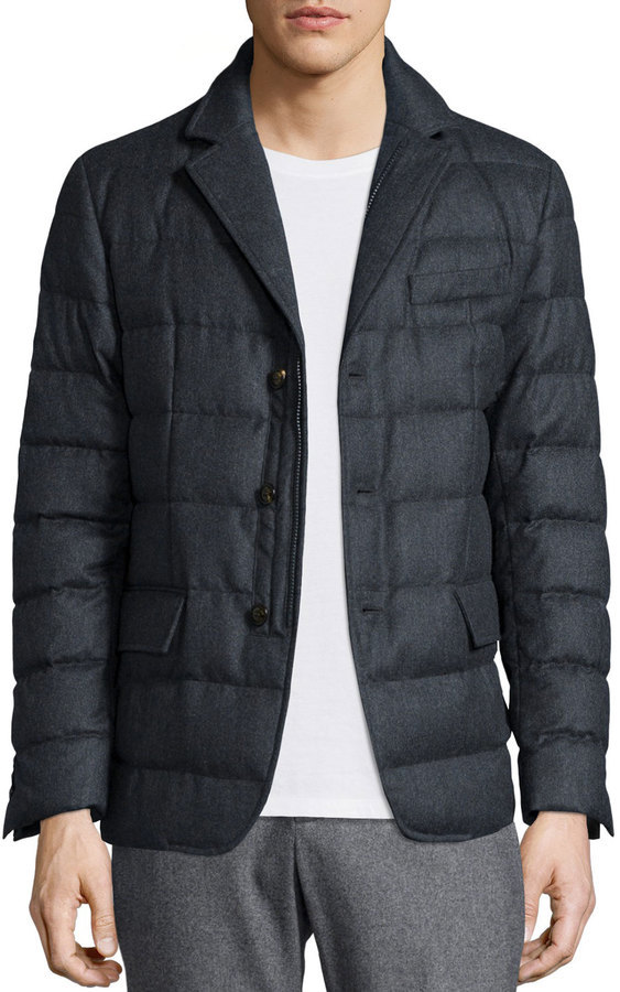 ... Moncler Rodin Quilted Button Down Jacket