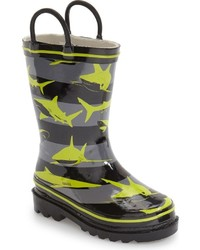 Western Chief Toddler Boys Shark Stripes Rain Boot
