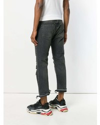 R13 Distressed Slim Fit Jeans