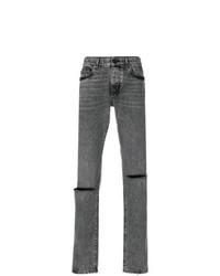 Saint Laurent Low Rise Busted Knee Jeans