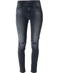 Charcoal Ripped Skinny Jeans