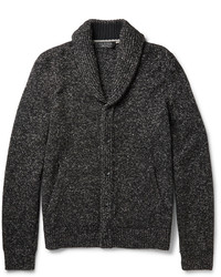 Rag and Bone Rag Bone Landon Wool And Linen Blend Shawl Collar Cardigan