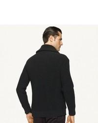 Ralph Lauren Black Label Ribbed Shawl Collar Cardigan