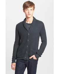 John Varvatos Star Usa Slim Fit Linen Knit Shawl Collar Cardigan
