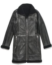 Charcoal Shearling Coat