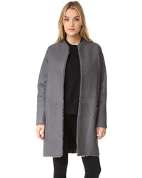 Shearling reversible car coat medium 834977