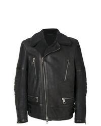 Charcoal Shearling Jacket