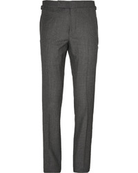 Tom Ford Grey Birdseye Wool And Silk Blend Flannel Suit Trousers