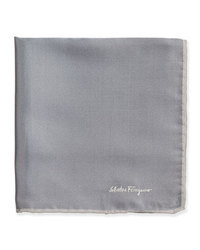 Charcoal Silk Pocket Square