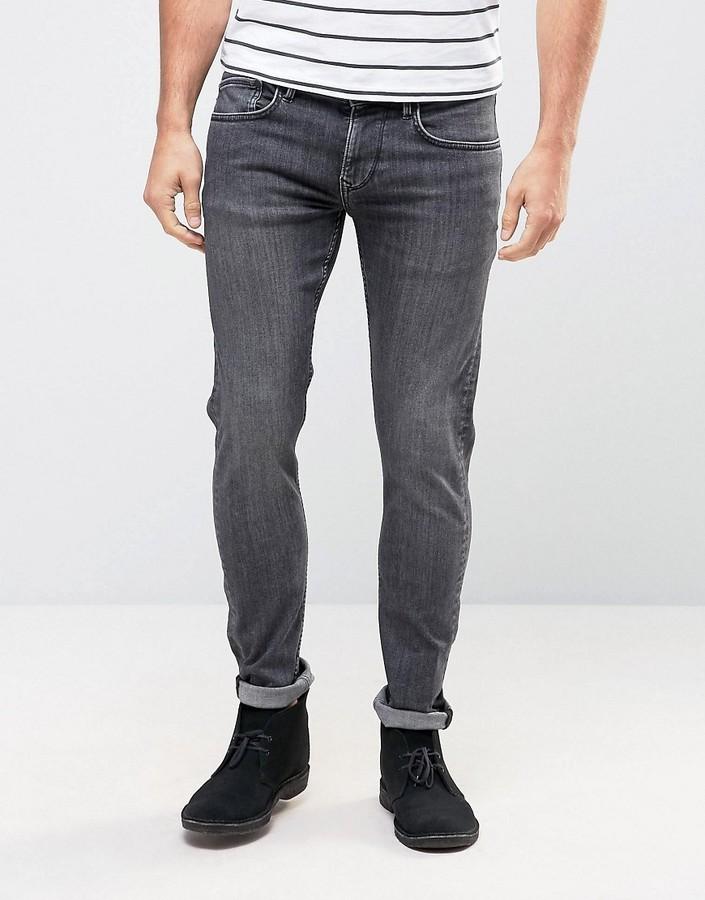 a3677563549c2 ... Pepe Jeans Pepe Jeans Pepe Finsbury Powerflex Skinny Jeans Stone Wash