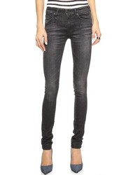 R 13 R13 The Alison Mid Rise Ankle Skinny Jeans