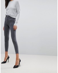 ASOS DESIGN Ridley High Waist Skinny Jeans In Grey