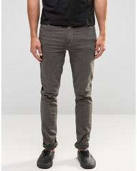 Skinny jeans in oil wash gray medium 832487