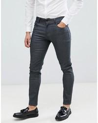 ASOS DESIGN Smart Skinny Jeans In Raw Grey
