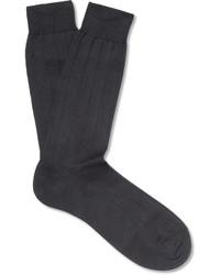 Pantherella Ribbed Sea Island Cotton Blend Socks