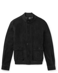 The Row James Suede Bomber Jacket