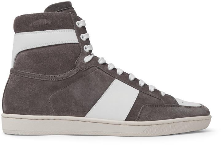 Saint Laurent Suede SL/10 High-Top Sneakers OGVx4FcnoA