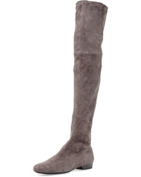 Robert Clergerie Fissaj Stretch Suede Over The Knee Boot