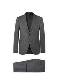 Ermenegildo Zegna Dark Grey Slim Fit Wool Suit