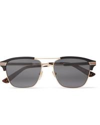 Gucci Endura Square Frame Acetate And Gold Tone Sunglasses