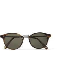 Cubitts Flaxman Round Frame Tortoiseshell Acetate And Silver Tone Sunglasses