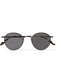 Garrett Leight California Optical Wilson M 49 Round Frame Metal And Tortoiseshell Acetate Sunglasses