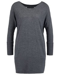Onlnew julienne jumper dress dark grey melange medium 3842443
