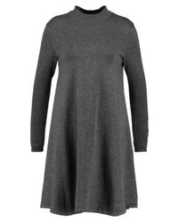 Pieces Pcjasmin Turtleneck Jumper Dress Dark Grey