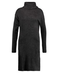 Pieces Pcjenka Rollneck Jumper Dress Dark Grey Melange