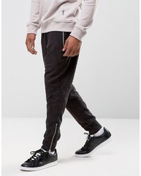 Religion Faux Suede Joggers With Zip Opening