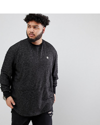 Le Breve Plus Crew Neck Sweater With Arm Ribbed