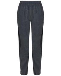 Kenzo Satin Stripe Cotton Twill Trousers