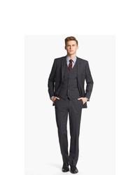 John Varvatos Star USA Trim Fit Three Piece Suit
