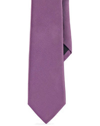 Ralph Lauren Black Label Solid Peau De Soie Tie