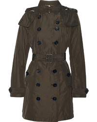 Balmoral packaway hooded shell trench coat army green medium 372951