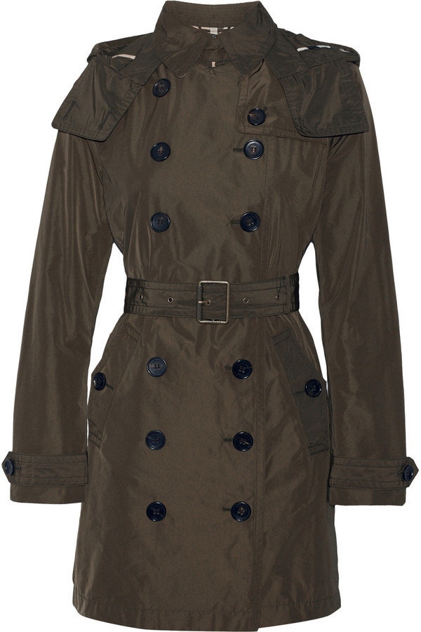 separation shoes 53cf5 704cd £644, Burberry Balmoral Packaway Hooded Shell Trench Coat Army Green
