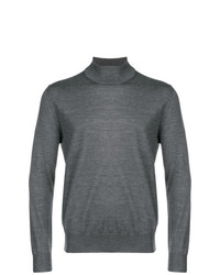 Canali Fine Knit Turtleneck Sweater